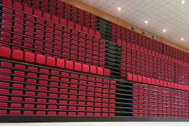 Spain Project – Telescopic Bleacher Stand Seating System JY-768